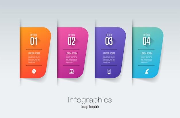 Schritt infografiken