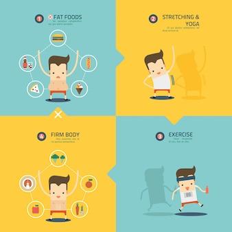 Schritt zur gewichtsverlust infografik