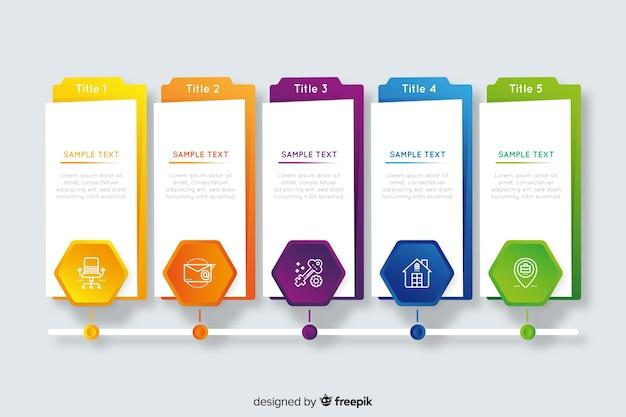 Schritte business infografik