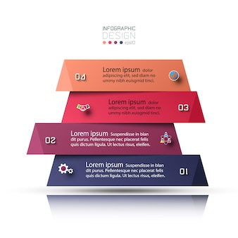 Schritte der darstellung und überlagerung von quadraten für ein klares verständnis und die zugänglichkeit von informationen