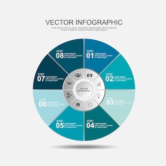 Schritte der infographic-designschablone 8
