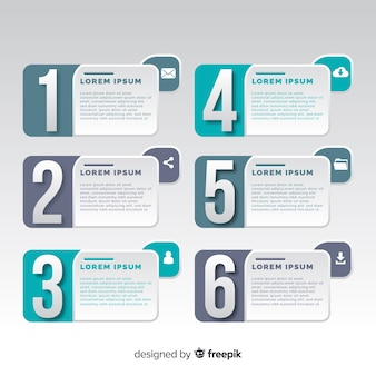 Schritte geschäft infografik