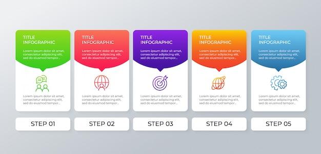 Schritte geschäft infographik elemente