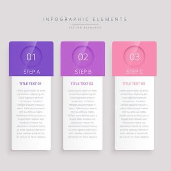 Schritte infografik banner