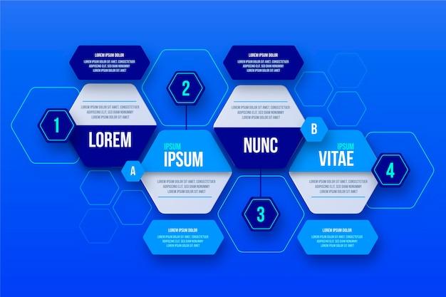Schritte infografik template design
