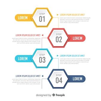 Schritte infografik