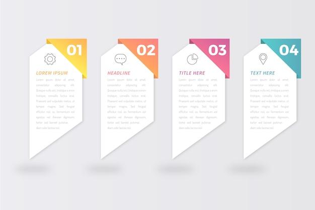 Schritte infografiken konzept
