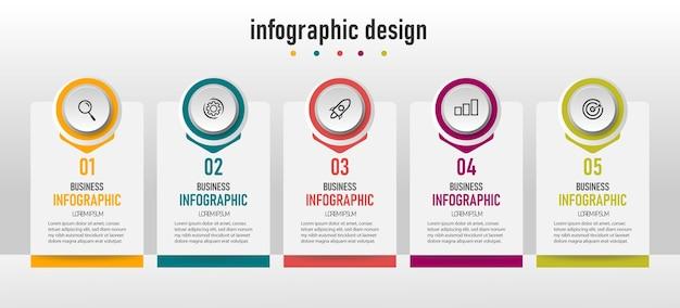 Schritte infografiken vorlage design