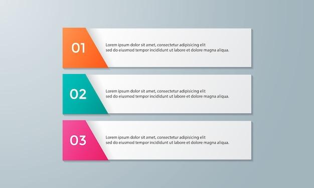 Schritte infografiken