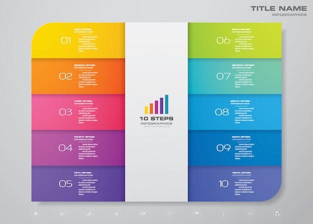 Schritte prozessdiagramm infografiken element.
