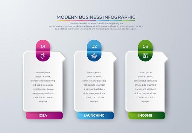 Schritte timeline infografik