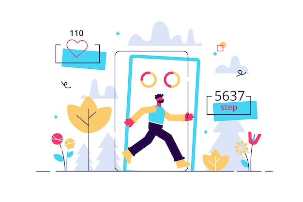 Schrittzähler und schrittzähler aktivitäts-app