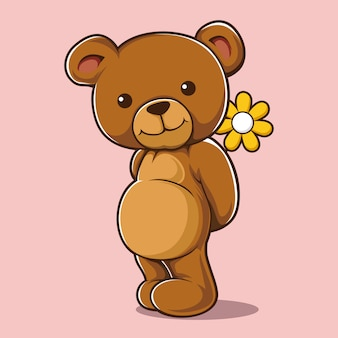 Schüchterne nette bärnblume