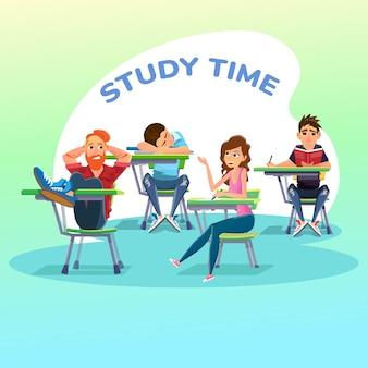 Schüler im unterricht an der universität oder in der schulklasse