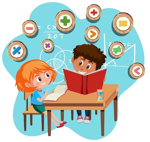 Schüler lernen mathematik isoliert