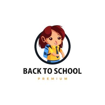 Schüler zurück zur schule daumen hoch maskottchen charakter logo symbol illustration