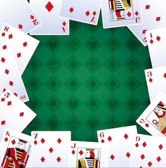 Schürhakenkartendiamanten, die spielendes kasino des spiels wetten