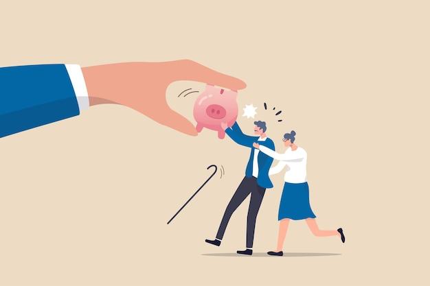 Schützen sie das altersrentengeld vor betrug, ponzi-system oder kosten und steuern, die sich auf den rentner auswirken