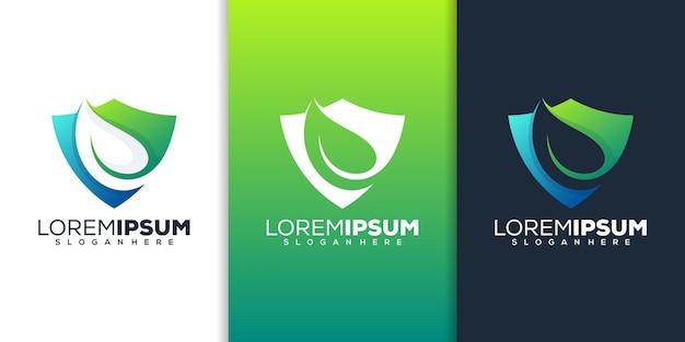 Schützen sie das blatt-logo-design
