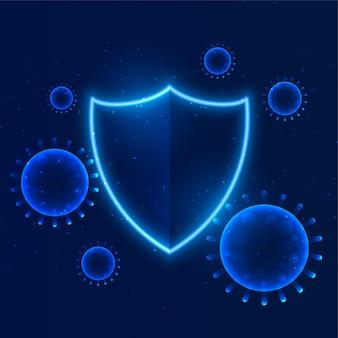 Schützen sie das coronavirus vor dem schutz der gebäudeimmunität