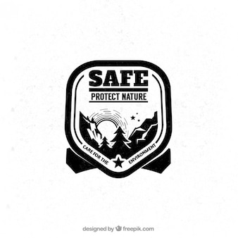 Schützen sie die natur abzeichen