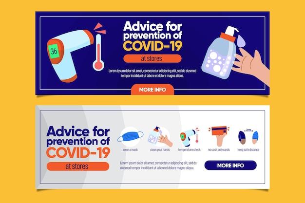 Schützen sie sich vor coronavirus-bannern
