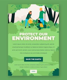 Schützen sie unsere umwelt-flyer-vorlage