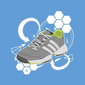 Schuh-illustrationsvektor