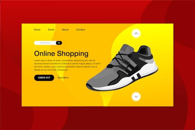 Schuhe online-shop landing page website-vorlage