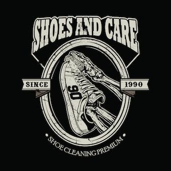 Schuhe pflege vektor-illustration