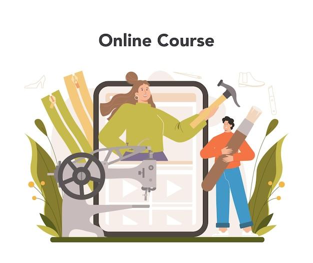 Schuhmacher-online-dienst oder -plattform