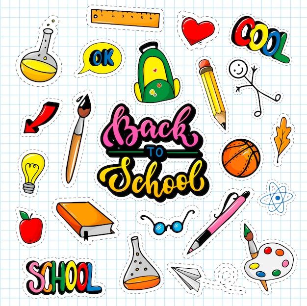 Schulaufkleber auf papier