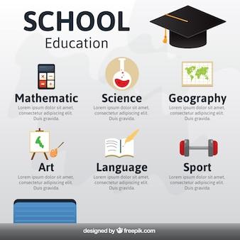 Schulausbildung infografik