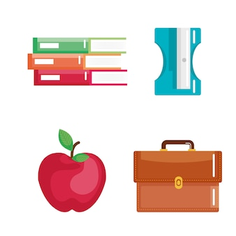 Schulbedarf stellt ikonen ein