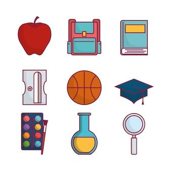 Schulbezogene symbole