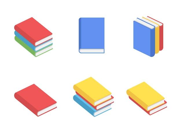 Schulbücher elemente setzen konzeptdesign flachen stil