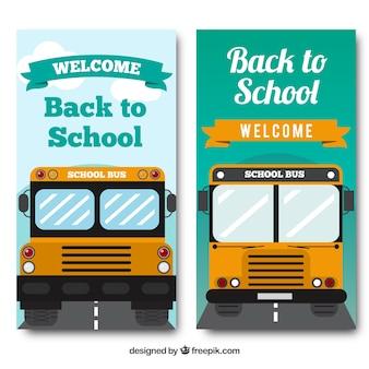 Schulbus für die schule banner