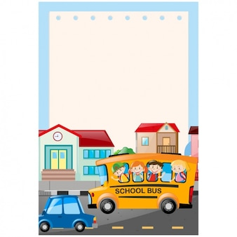Schulbus hintergrund-design