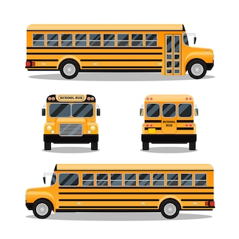 Schulbus. transport und fahrzeugtransport, reiseautomobil,