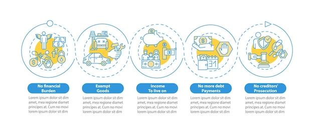 Schuldenfreiheit infografik vorlage illustration