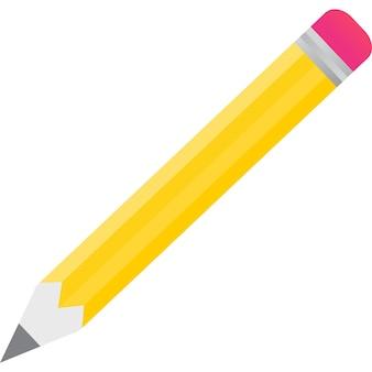 Schule-bleistift-vektor-symbol isoliert auf weiss