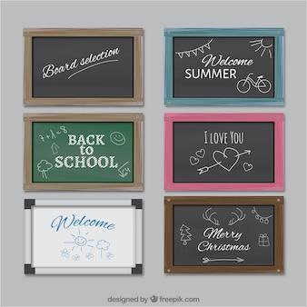 Schule chalkboards sammlung