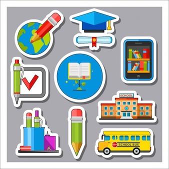 Schule etiketten-sammlung