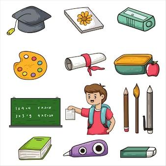 Schule gekritzel illustration