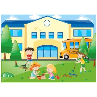 Schule hintergrund-design