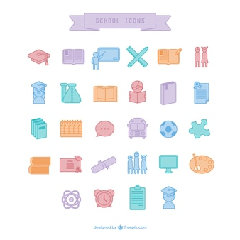 Schule icons pack