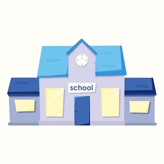 Schule im cartoon-stil. vektorillustration im flachen stil