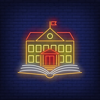 Schule leuchtreklame