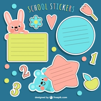 Schule stikers packen