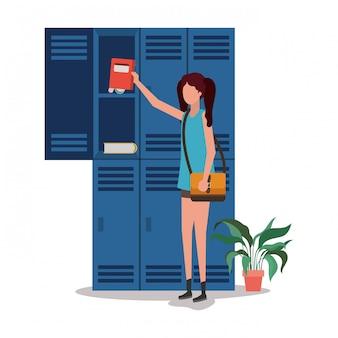 Schule studentin illustration